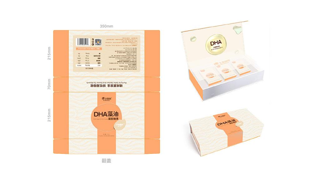 DHA藻油礼盒包装设计,轻奢礼品盒包装设计,原创礼品盒包装设计案例欣赏