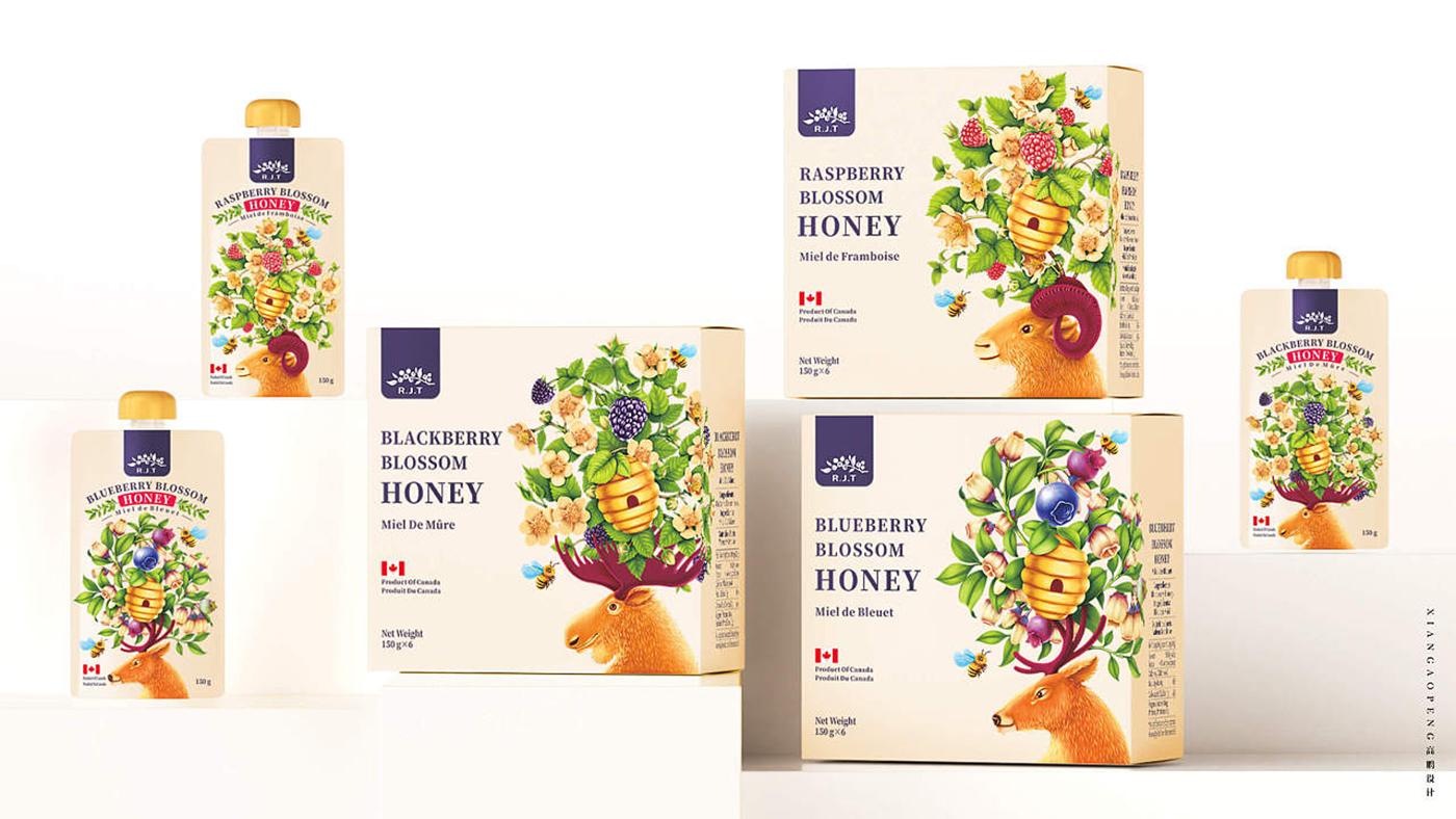 加拿大R.J.T.蜂蜜食品包装设计图2