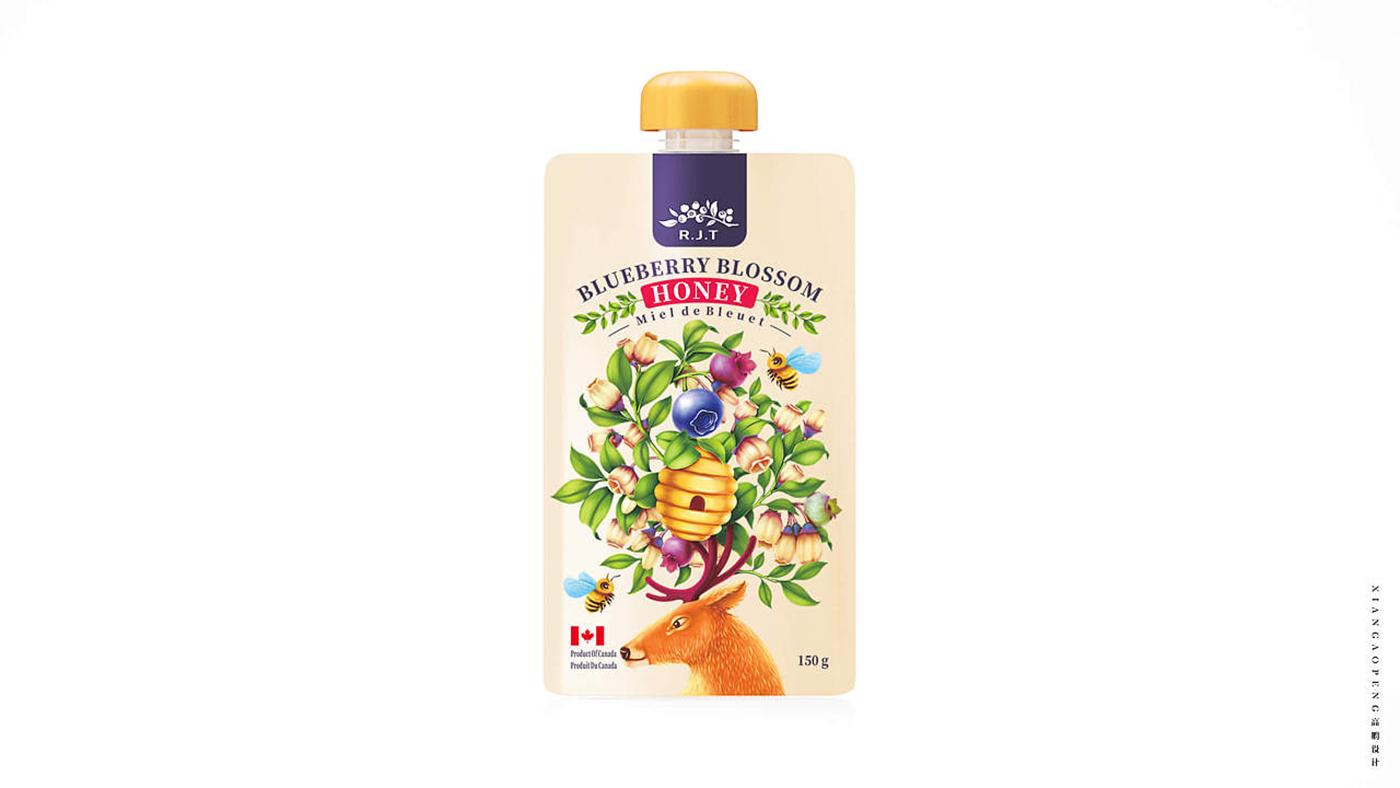 加拿大R.J.T.蜂蜜食品包装设计图1