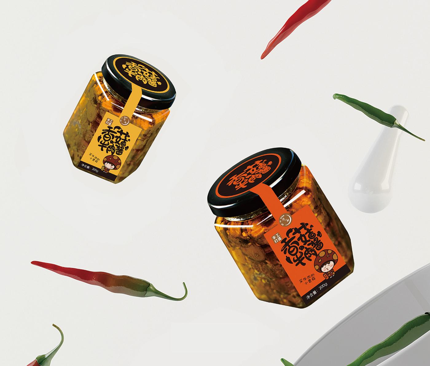 得一鲜品牌设计香菇酱品牌设计图3
