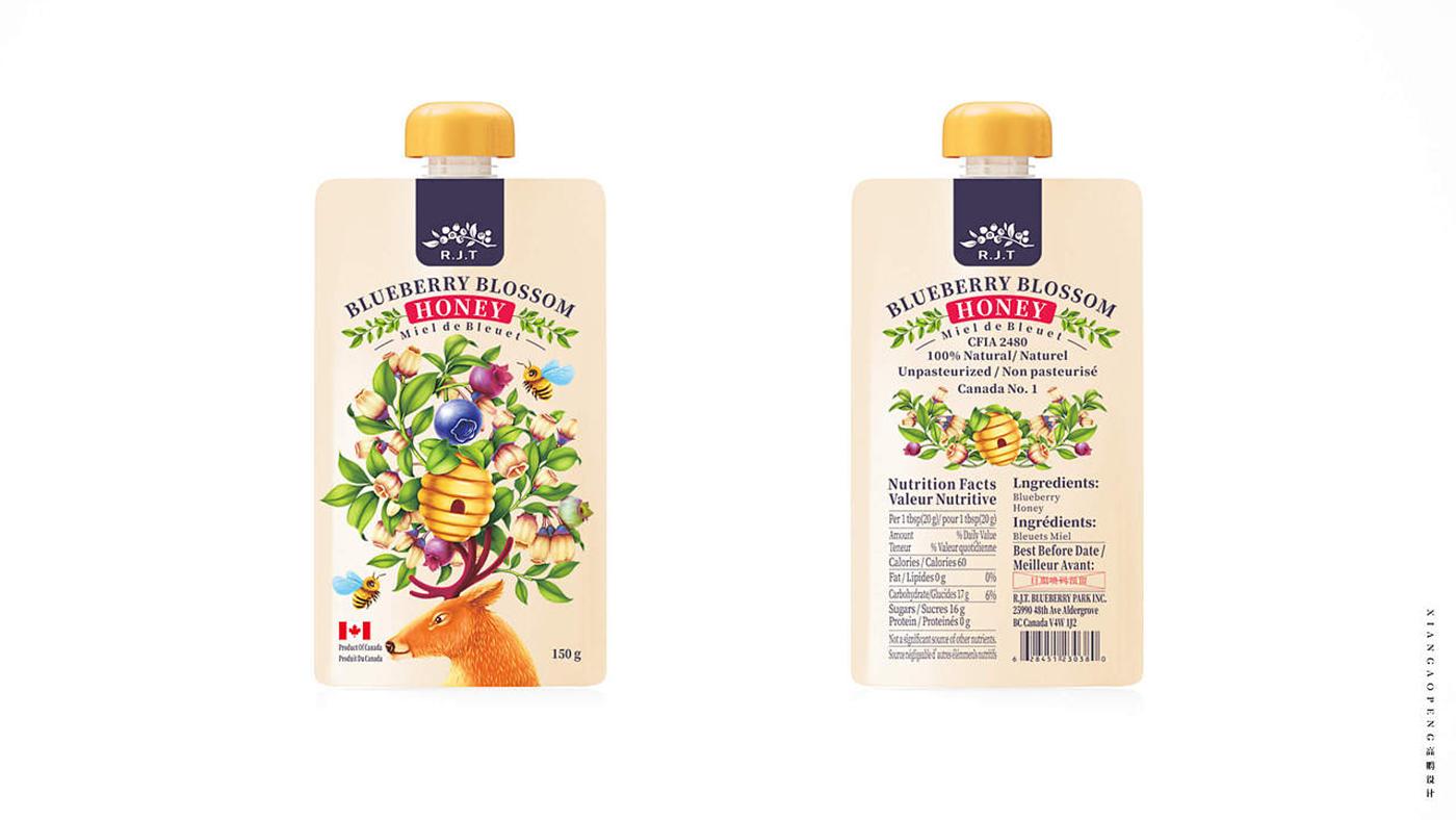 加拿大R.J.T.蜂蜜食品包装设计图3