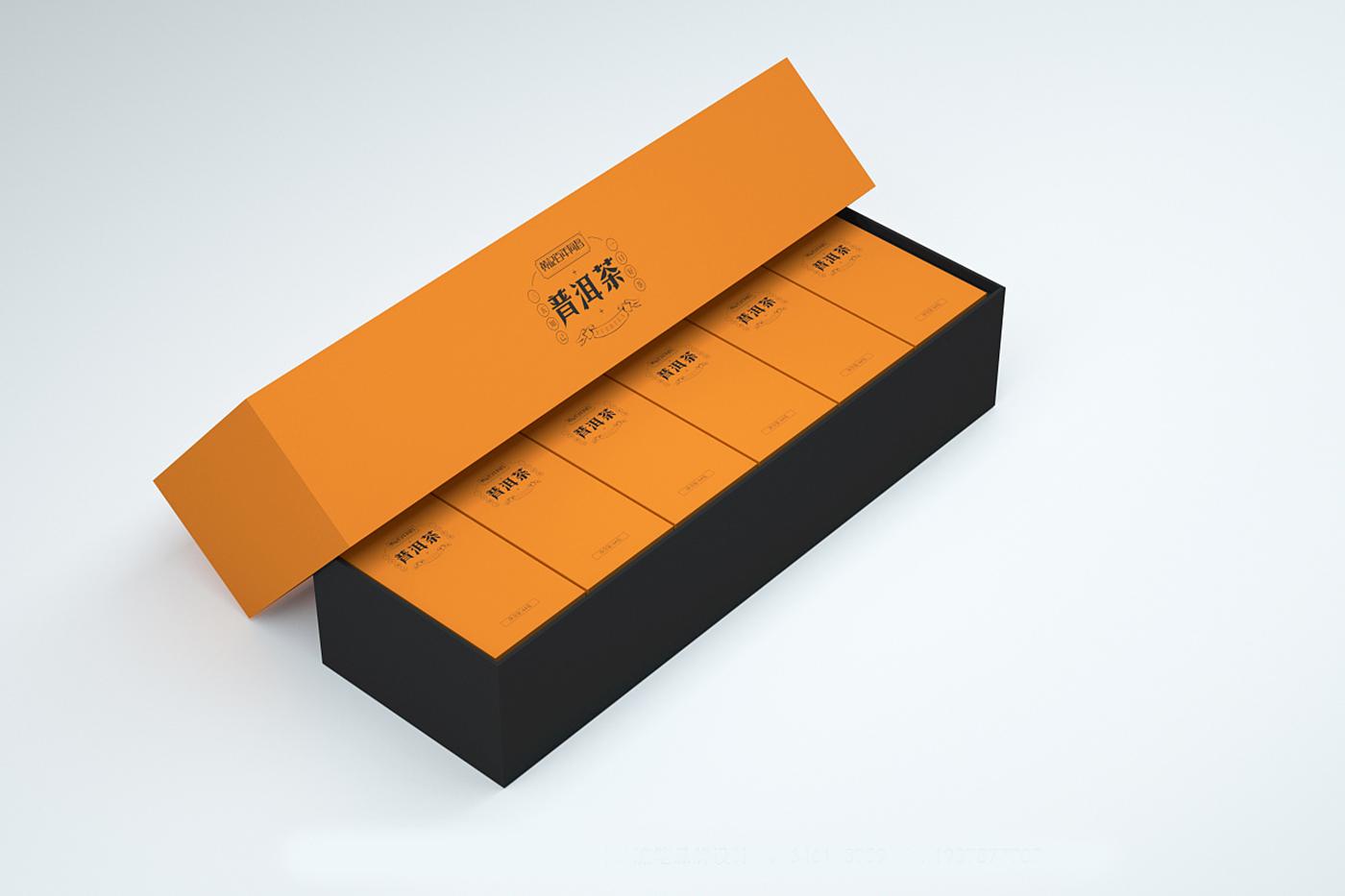 普洱茶包装设计-普洱茶礼盒包装设计