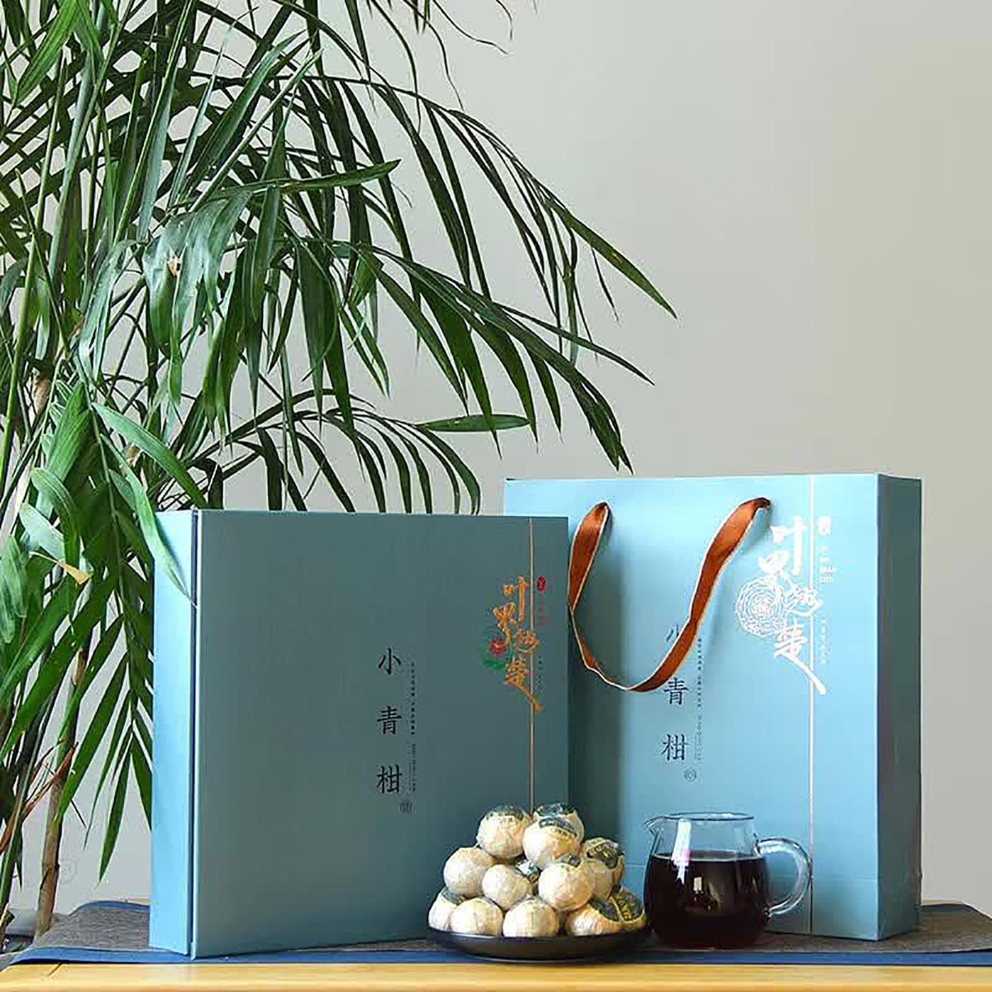 小青柑茶叶包装设计,顶级红茶叶包装设计