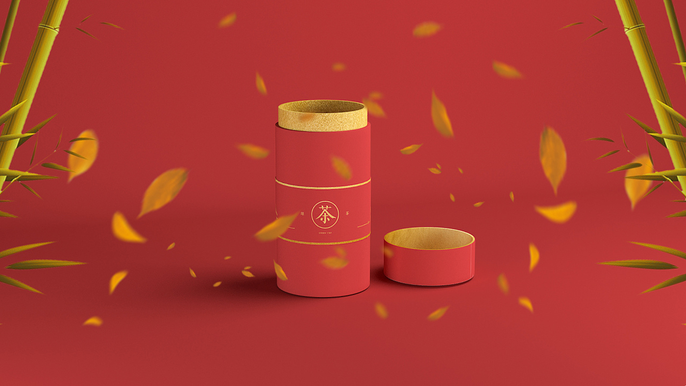 传统茶叶包装盒设计,中国红茶叶盒包装设计