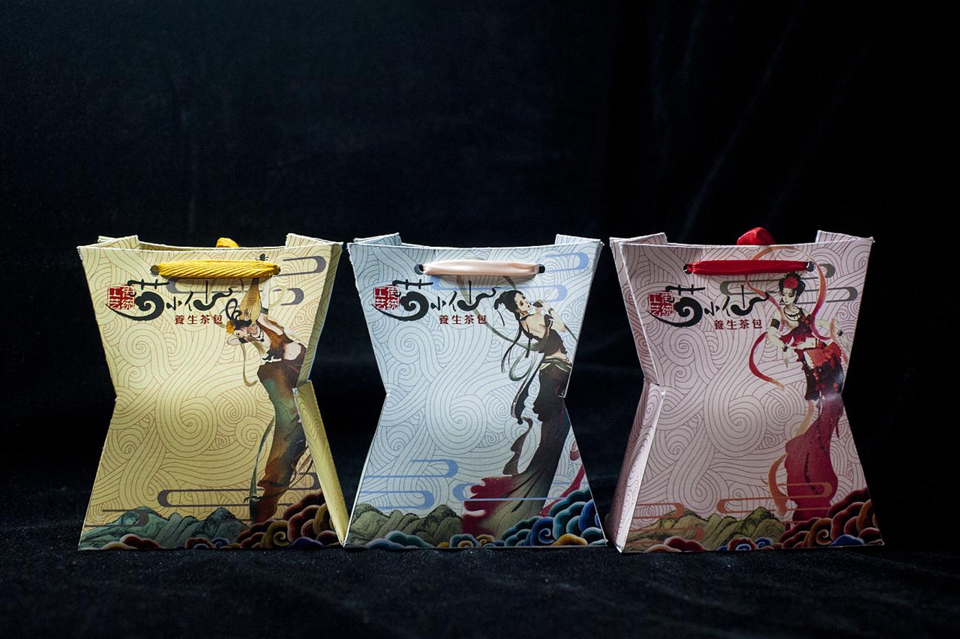 菊小仙茶包装设计-养生茶包装设计