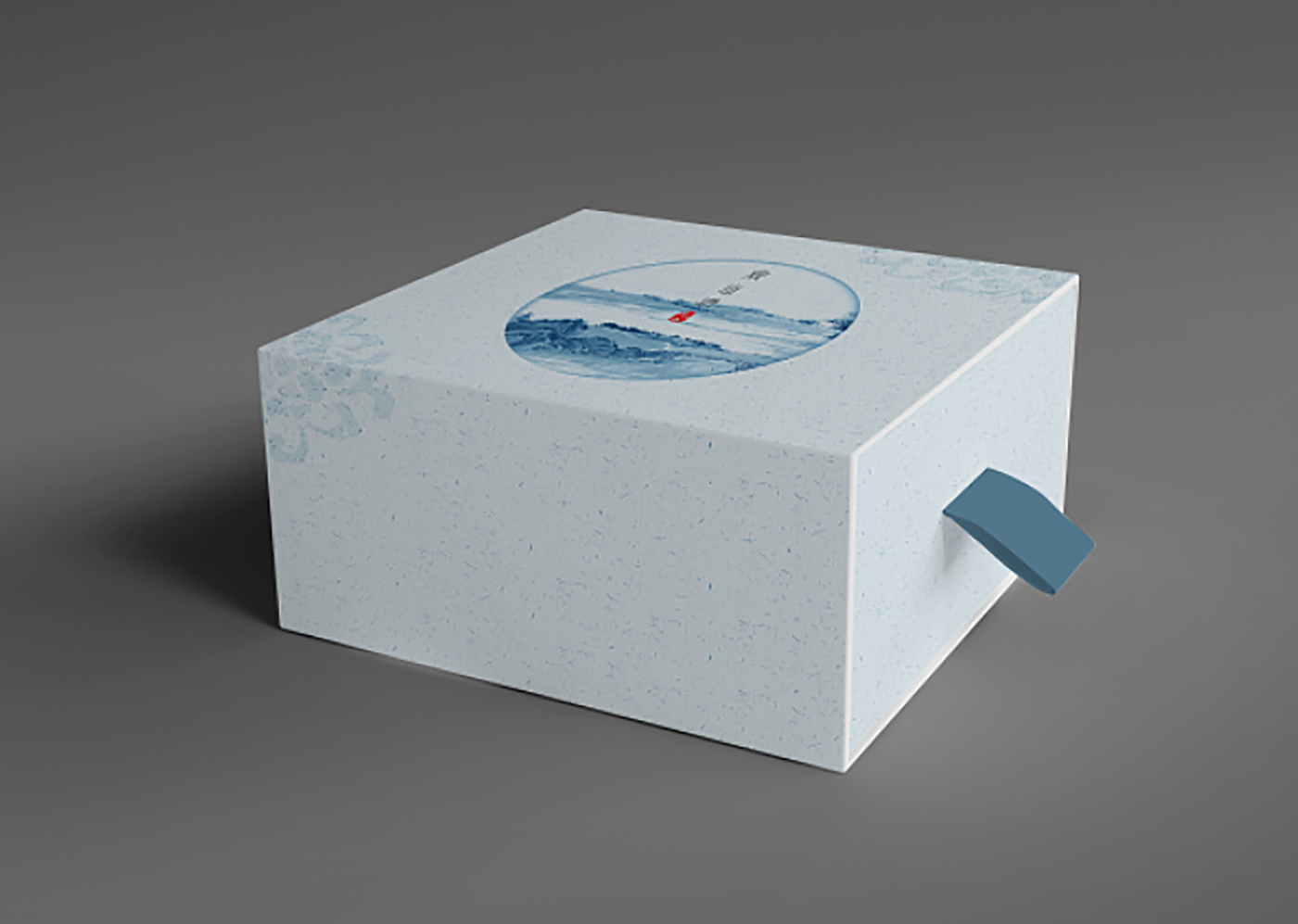 印泥创意茶叶包装设计包装设计-创意水墨中国风茶叶包装设计