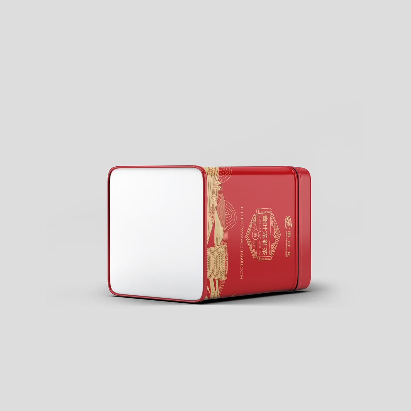 贵叶龙红茶包装设计-传统红茶包装设计