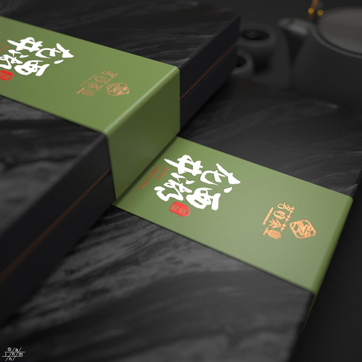 西湖龙井茶叶包装设计-龙井绿茶包装设计