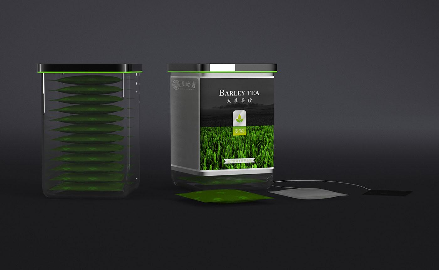 大麦粉保健品包装设计-食品类保健品包装设计公司