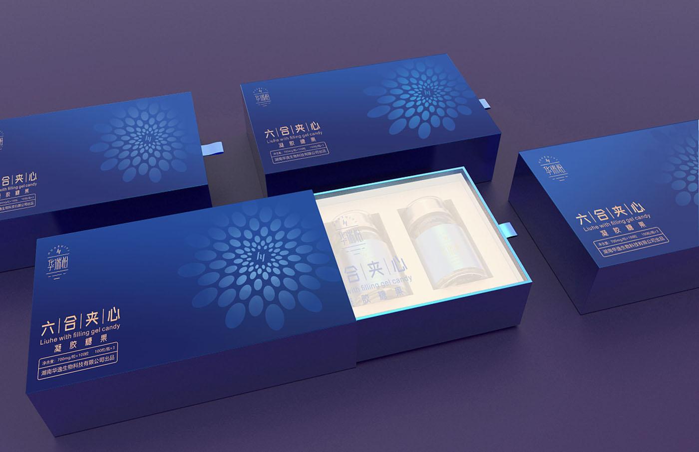 凝胶糖果保健品包装设计-药品保健品包装设计
