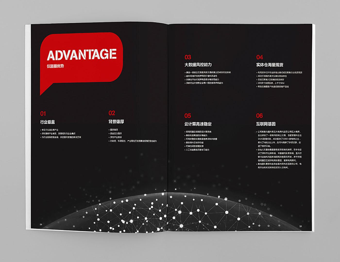 仪器圈集团画册设计-创意投资集团画册设计公司
