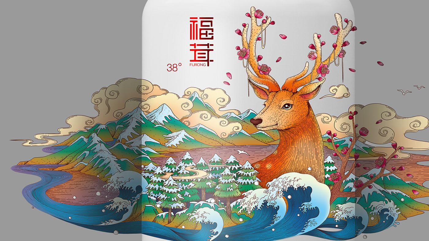 鹿茸酒包装设计-酒类包装设计公司