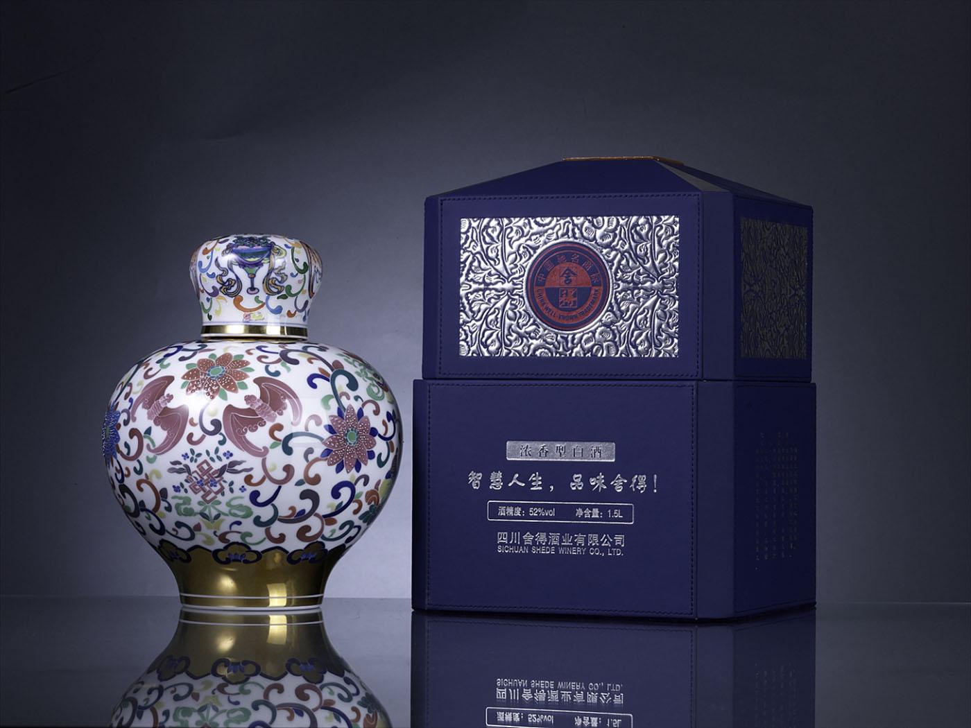 高端瓷器茅台酒包装设计-酒类包装设计公司