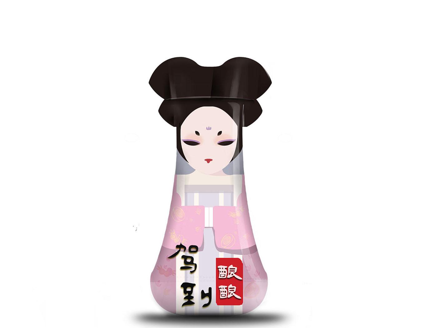 创意米酒包装设计-酒类包装设计公司