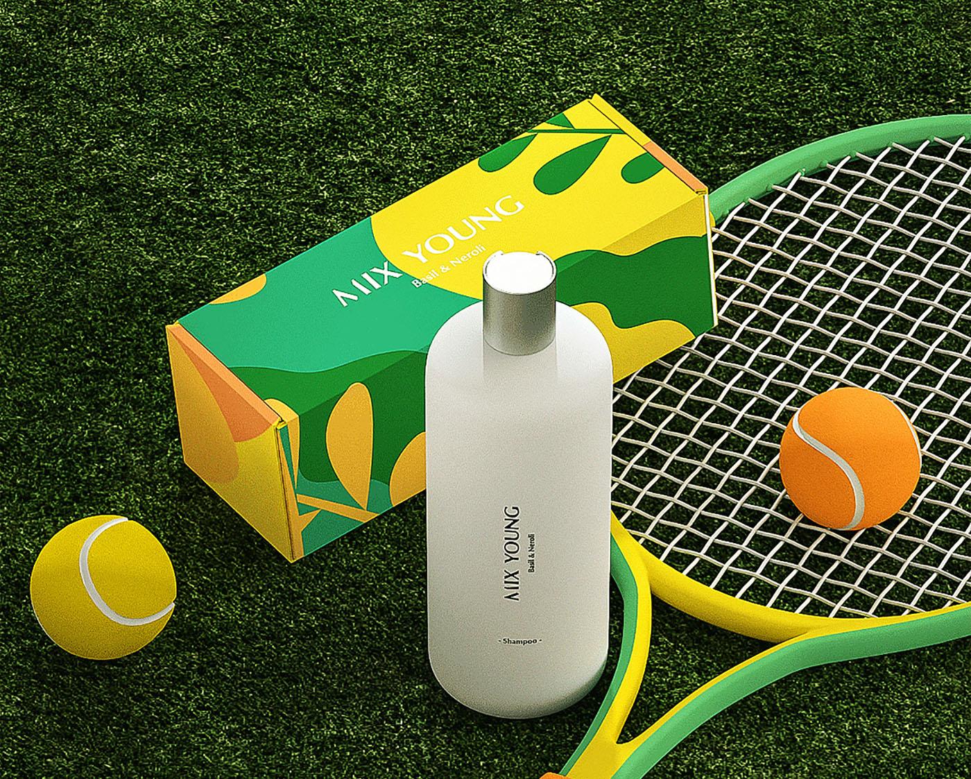 绿色洗发水包装设计-洗发水包装设计公司