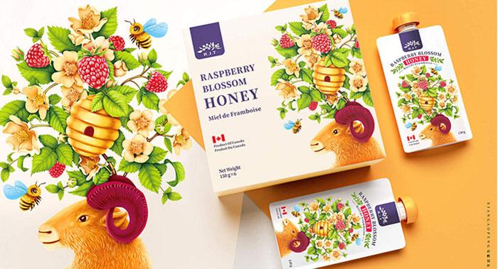 加拿大R.J.T.蜂蜜食品包装设计
