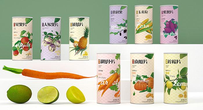 果蔬冻干食品包装设计
