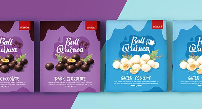 食品包装设计,酸奶藜麦素巧克力藜麦素