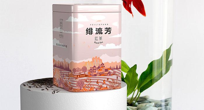 来自西北深山的玉叶茶叶包装设计-创意插画茶叶包装设计