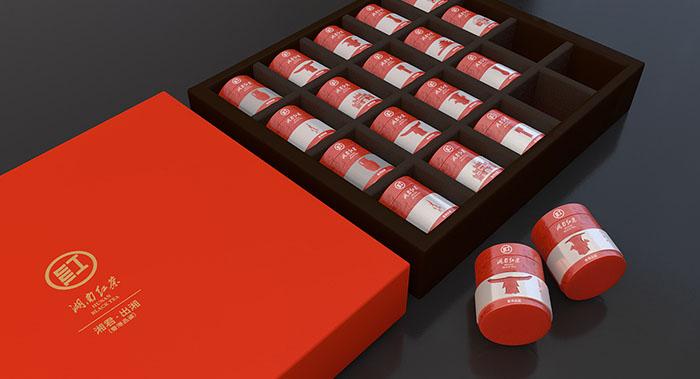 湘君出湘茶叶包装设计-湖南红茶包装设计