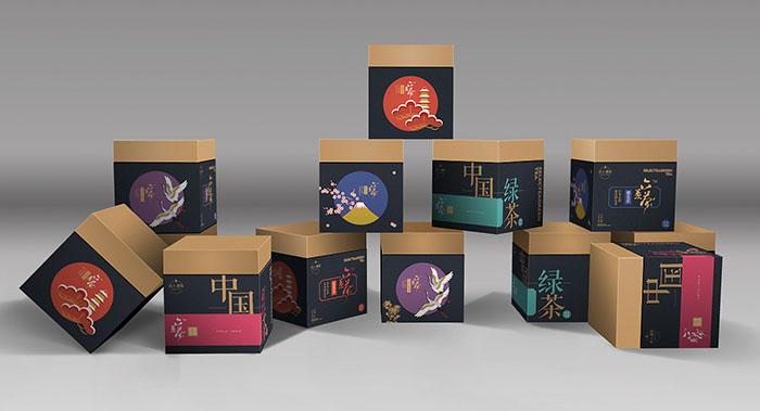 花果茶包装设计,中国风系列花果茶盒包装设计