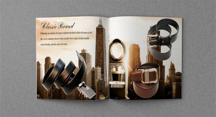 男士皮带产品画册设计-产品画册设计公司