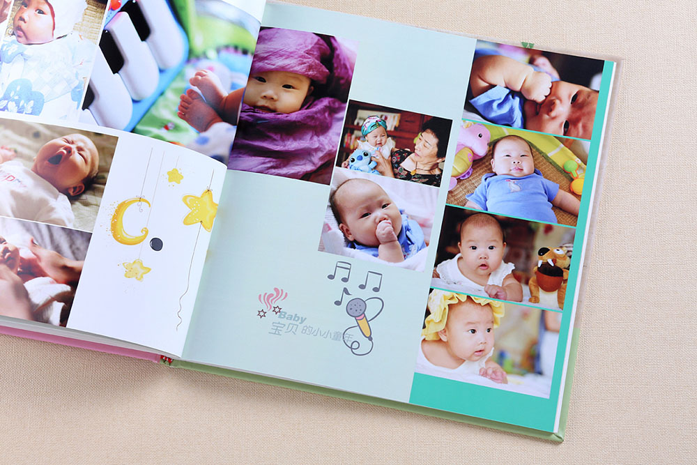 想要给宝宝做一本成长纪念册应该准备什么?