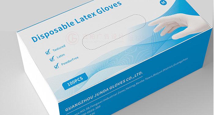 广州手套盒包装设计-英文版一次性手套盒包装设计案例欣赏