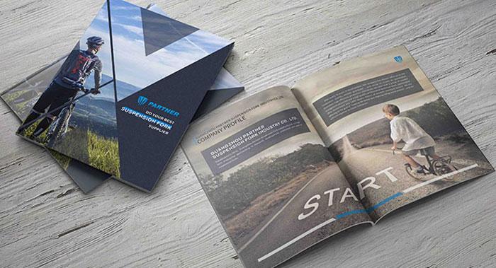 英文单车业企业产品册设计