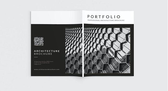 黑白风建筑画册设计