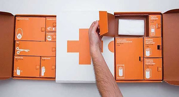 生物药品医院系列插画包装设计-高端生物药品插画包装设计