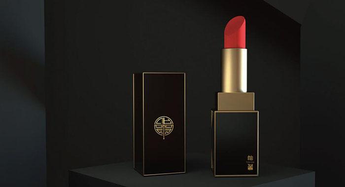 中国风口红化妆品形象设计-中国风口红包装设计